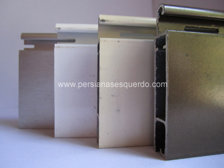lamas rectas de persiana enrollable de aluminio extrusionado - seguridad