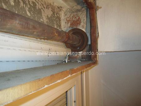 corrón de madera de persiana enrollable doméstica